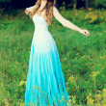 Blue dress — Stock Photo #10952459