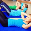 Abs exercise — Foto Stock