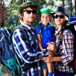 Stock Photo: Hiking family