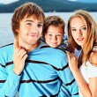 Stock Photo: Lovely family