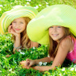 Green hats — Stock Photo