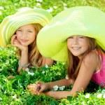 Green hats — Stock Photo