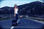 Hitchhiking — Stock Photo