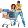 Stock Photo: Humorous shopping