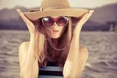 Chapéu romântico — Foto Stock