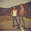 Jeans couple — Stock Photo