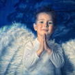 Pray angel — Stock Photo