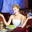 Hungry bride — Stock Photo