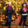 Autumn girls — Stock Photo
