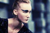 Black eyebrows — Stock Photo