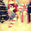 Santa girl - Stock Photo