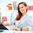 Stock Photo: Working woman