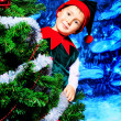 Joyful elf — Stockfoto