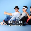 Stock Photo: Boombox fun