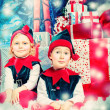 Happy elves — Stock Photo