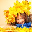 Child autumn — Stock Photo