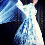 Opera woman in medieval era dress. — Stock Photo #14173791