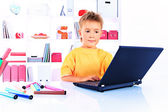 Laptop boy — Stock Photo
