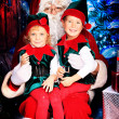 Noel and elves — Stock Photo #14502763