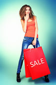Sale bag — Stock Photo