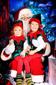 Noel and elves — Stock Photo