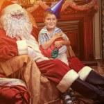 Elf and santa — Stock Photo