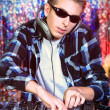 Stock Photo: dj mixing