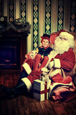Elf and noel — Stockfoto