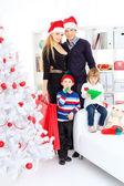 Family xmas — Stock Photo