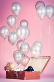 Silver balloons — Stock Photo
