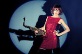 Saxophone — Stok fotoğraf