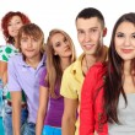 Group of teens — Stock Photo
