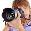 Paparazzo — Stock Photo