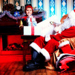 Elf and santa — Stock Photo #15794947