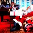 Elf und santa — Stockfoto