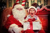 首页圣诞老人 — 图库照片