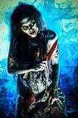 Zombie woman — Stock Photo