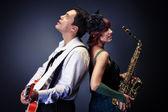 Jazz pair — Stock Photo