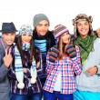 Foto Stock: Winter friends