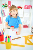 Drawing boy — Stock Photo