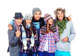 Winter friends — Stock Photo