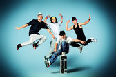 Jump group — Stock Photo