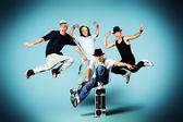 Jump group — Stock Photo