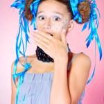 Fear girl — Stock Photo