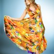 Stock Photo: Vivid dress