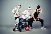 Straat dansers — Stockfoto