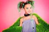 Green dress — Stock Photo