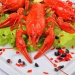 Crawfish and rice — Stock Photo