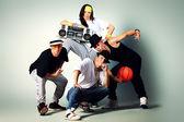 Dancing group — Stock Photo