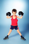 Boxer boy — Stock Photo